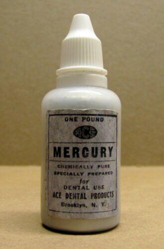 1lb Vintage ACE Triple Distilled Chemically Pure Dental Hg Quicksilver