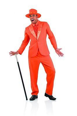 Mens Dumb and Dumber Costume  M L XL Adult 90s Movie TV Orange Suit Fancy Dress