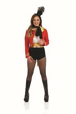 Womens Circus Ringmaster Costume  + Hat Ladies Lion Tamer Fancy Dress S - XXL (Circus Costume Womens)