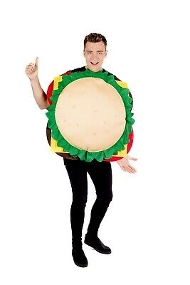 Mens Womens Cheese Burger Costume Adult Funny Food - Fancy Dress Burger Kostüme