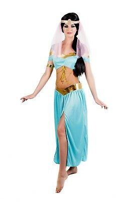 Womens Arabian Princess Costume S - XL Jasmine Fancy Dress Aladdin Belly - Arabian Princess Fancy Dress Kostüm