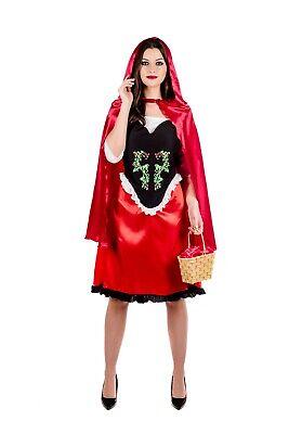 Ladies Little Red Riding Hood Costume Womens Fairy Tale Fancy Dress S -  XXL - Fairy Tale Little Red Riding Hood Kostüm