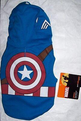 NWT Marvel Captain America Dog Costume Small Halloween Super Hero ()