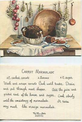 VINTAGE BAKED BEANS BROWN BREAD CARROT MARMALADE RECIPE 1 CHRISTMAS SNOWMAN CARD ()
