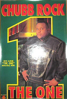 CHUBB ROCK The One, orig Select promotional poster, 1991, 24x36,EX, rap, hip-hop