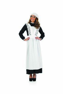Womens Victorian Maid Costume S -  XXL Ladies Florence Nightingale Fancy Dress