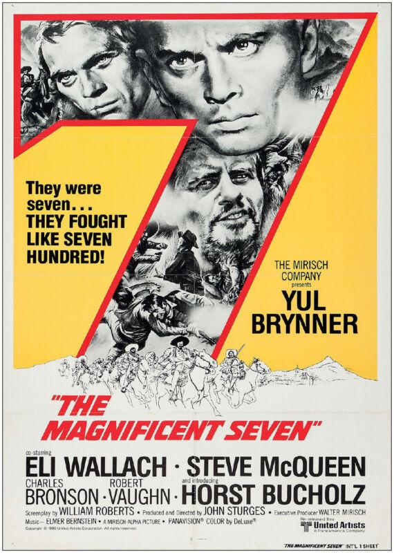 Bullitt ... Steve McQueen Classic Movie Posters Magnificent Seven Great Escape
