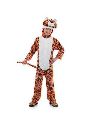 Fun Shack Kids Tiger Costume S - XL Boys Girls Animal Fancy Dress Hodded Suit