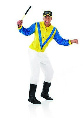 Mens Horse Rider Jockey Costume M L XL Adult Racing Fancy Dress Grand National](Jockey Costumes)