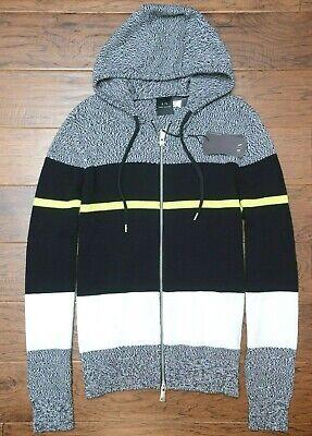 Armani Exchange $130 A X Men's Gray Full Zip Hooded Sweater Jacket Cardigan (Armani Exchange Sweater Men)