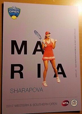MARIA SHARAPOVA - 2017 Western & Southern ATP Tennis 5 x 7 Player Card