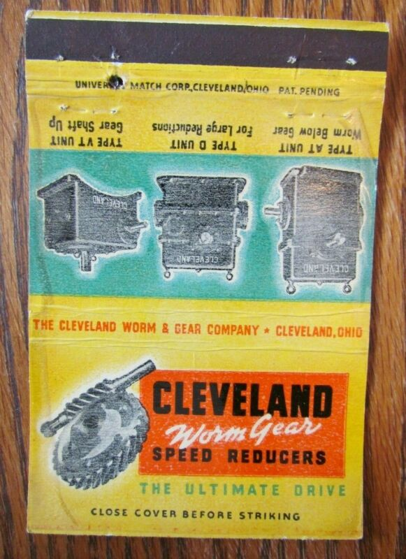ROYAL FLASH: CLEVELAND WORM GEAR SPEED REDUCERS (OHIO) -F19