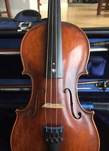 1/2 size Andreas Eastman violin, 2 bows, and case