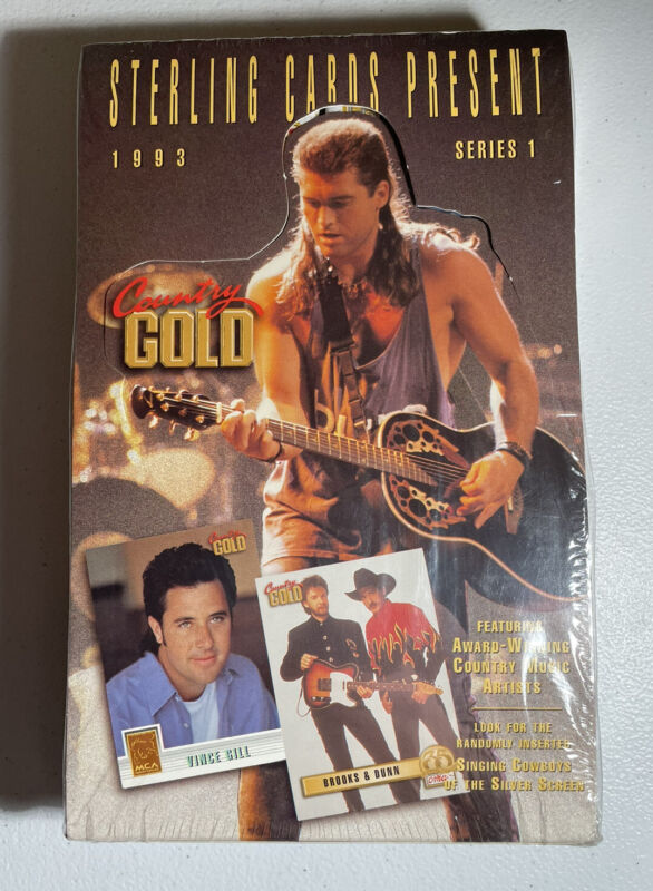 Country Gold Collectible Cards Box Series 1 *Sealed* Sterling Cards 1993