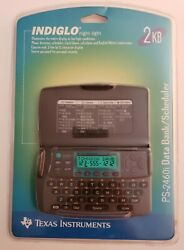 Texas Instruments PS- 2460i Indiglo Data Bank / Scheduler Calculator/ Alarm 2 KB