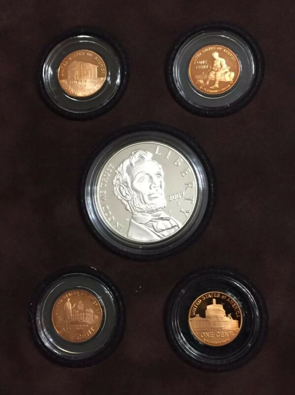 2009 US Mint Lincoln Coin & Chronicals Set Proof Conditions