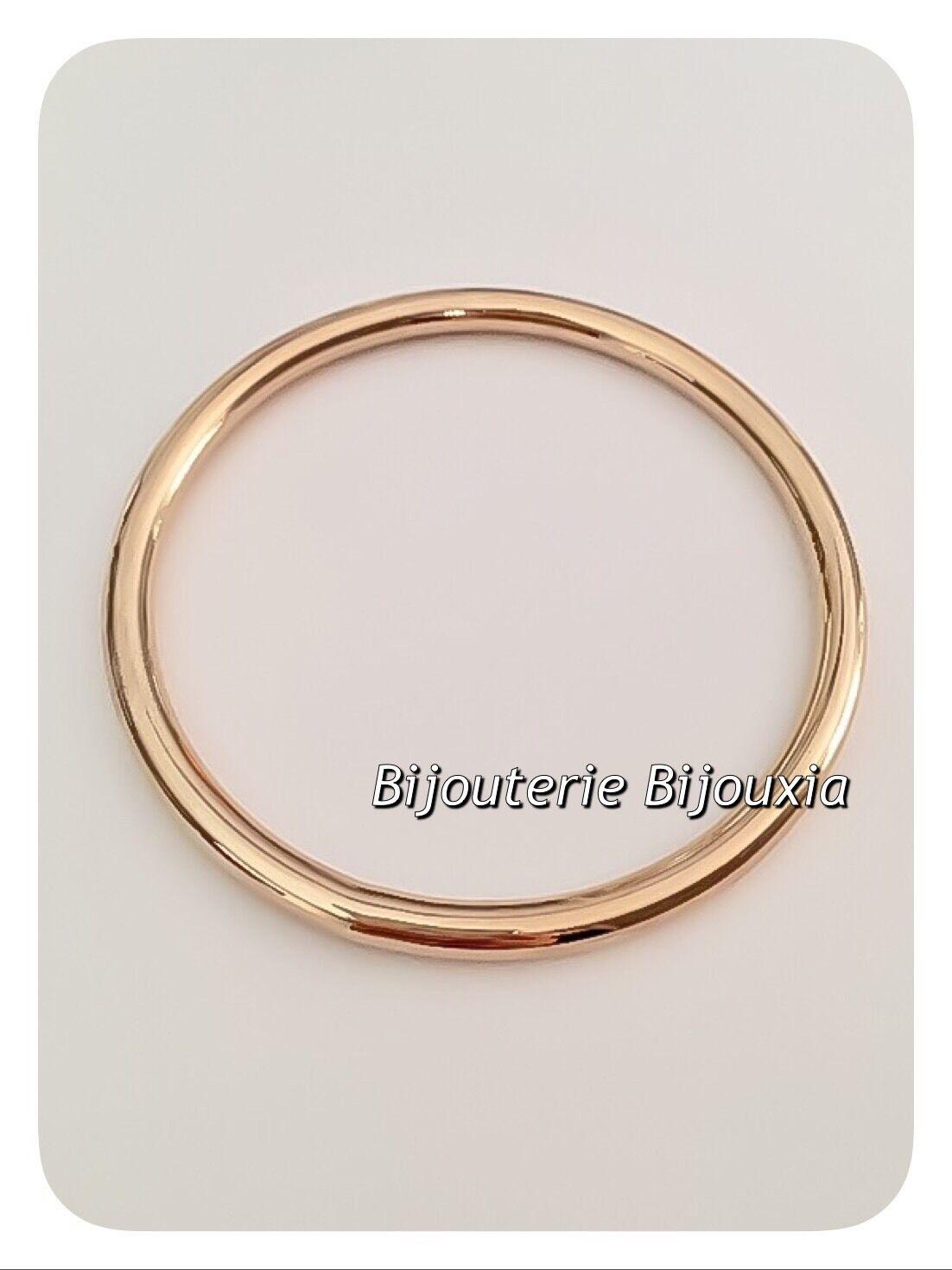bracelet jonc pais plaqu or 18 carats garanti 10 ans 6 2 cm bijoux femme eur 46 60 picclick fr. Black Bedroom Furniture Sets. Home Design Ideas