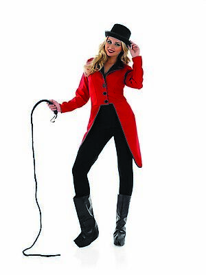 Womens Circus Ringmaster Jacket Ladies Lion Tamer Fancy Dress Costume S - XXL
