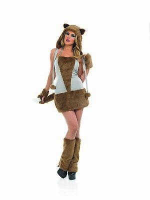 Womens Sexy Fox Dress and Accessories Foxy Lady Fancy Dress Costume XL XXL