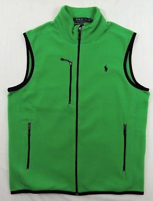 Slim Zip Fleece (Polo Ralph Lauren Pony Performance Fleece Zip Down Sport Slim Vest Jacket S L)