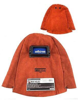 Best Welds 740lh Side Split Cowhide Leather Hood Welding Helmet 2x4-14