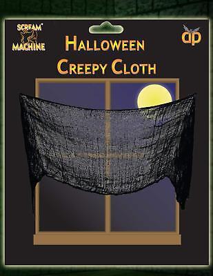 Black Mesh / Sheer Halloween Creepy Cloth Decoration (Clearance) - Halloween Decoration Clearance