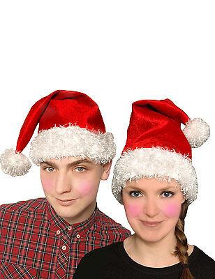 Neu Weihnachten Unisex Rot Vater Santa Hut Velvet Weihnachten Party (Velvet Santa Hut Grün)