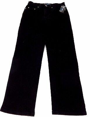 STYLE & COMPANY WOMENS BLACK WASH STRETCH DENIM STRAIGHT LEG JEANS SIZE 2P
