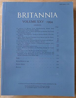 Britannia: a Journal of romano-british and kindred studies. Volume XXV, 1994