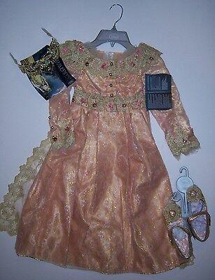 NWT Disney Store XS 4/4T Deluxe Aurora Costume Dress Tiara & Shoes - Maleficent Aurora Deluxe Tiara