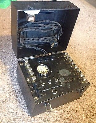 Hoyt Vintage Ac Ammeter Tester - Heavy Duty Metal Box