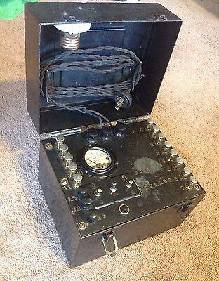 Hoyt Vintage Ac Ammeter Tester - Heavy Duty Metal Box