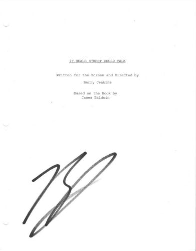 * BARRY JENKINS * signed movie script * IF BEALE STREET COULD TALK * DIRECTOR 1