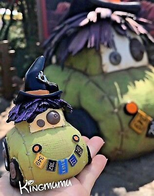 Disney Parks Halloween Christmas Hauloween Cars Land Scary Witch Car Ornament - Scary Halloween Cars