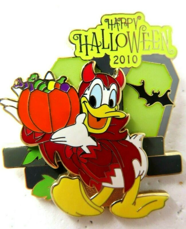 Disney Pin Halloween 2010 Donald Duck as a Devil LE 1500 #79456
