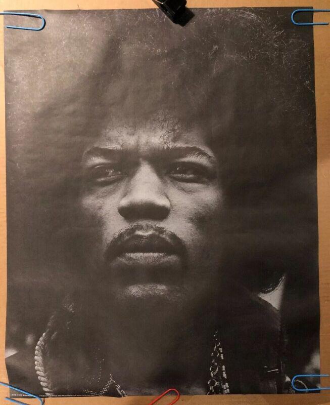 Original vintage poster Jimi Hendrix 1970 Music Memorabilia Pin-up Headshop 70's