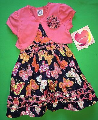 New Baby Girls Dress Shirt 2 pc Set 2T Gift Church Pictures Butterfly $22 EASTER](Girls Easter Gifts)