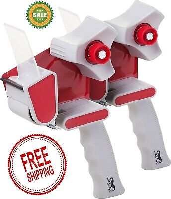 New Pack Of 2 Heavy Duty Packing Tape Dispenser2 Inch Packing Cutter Machine