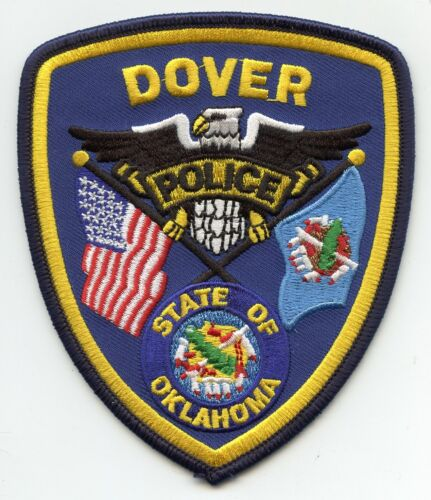 DOVER OKLAHOMA OK POLICE PATCH