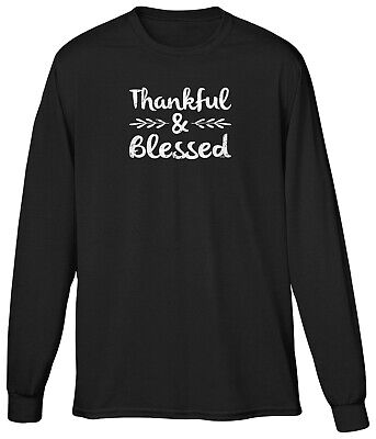 Thankful Blessed Country Southern Belle Christian Gratitude Inspire Mens LS -