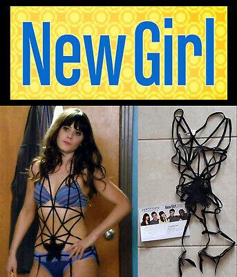 New Girl: Zooey Deschanel Jess Sexy Spider Web Flower Top w/Studio COA