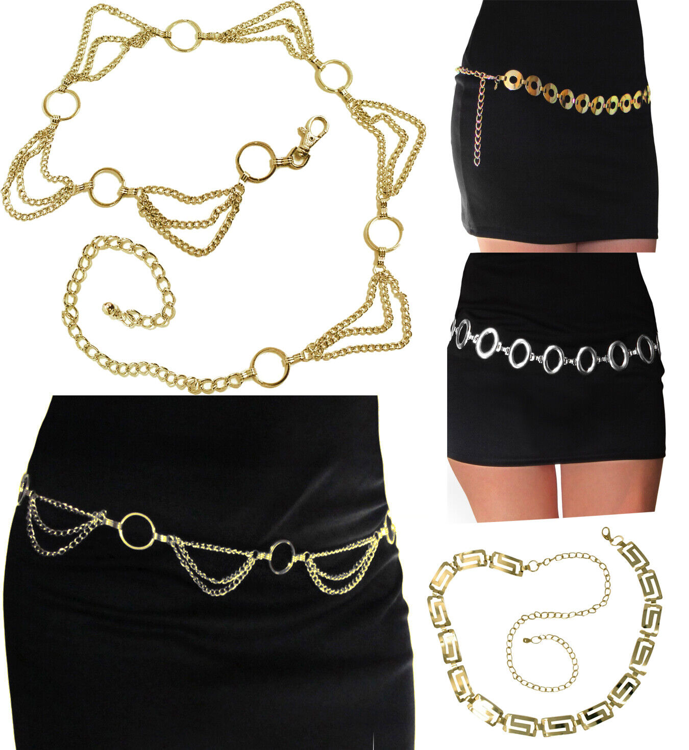 Womens Fashion Metal Chain Link Belt Belts