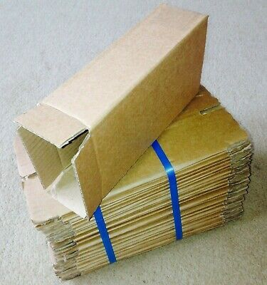 25 CARDBOARD PACKING SINGLE WALL MAILING BOXES - 11cm x 6½cm x 21cm - RRP £30