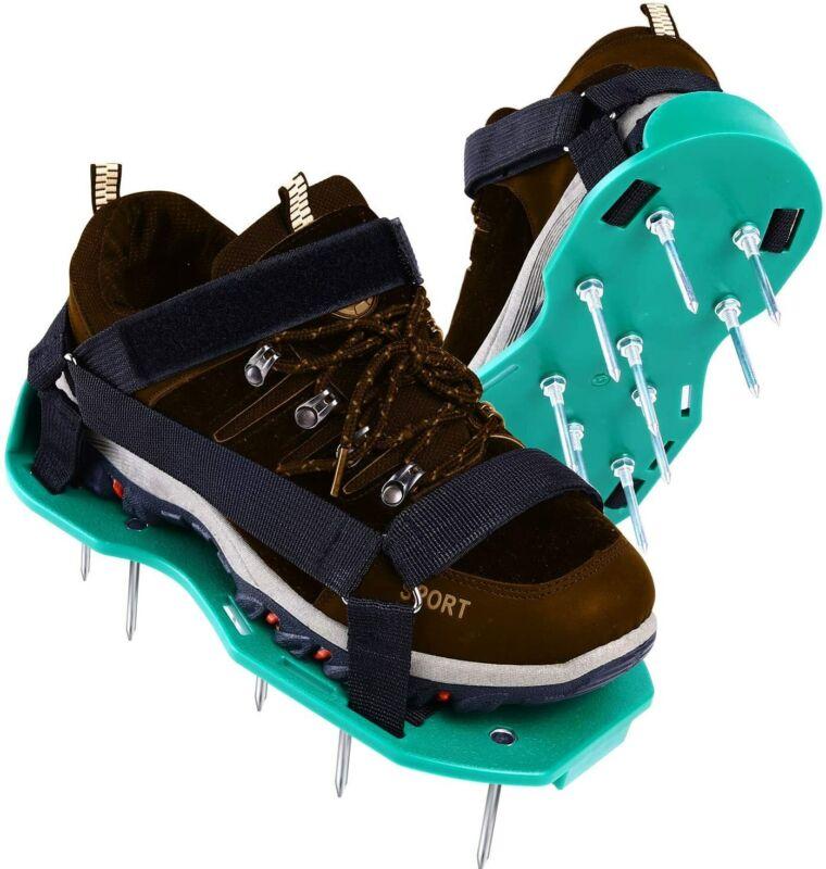 Ohuhu Lawn Aerator Shoes Heavy Duty Spike Aerating Lawn Soil Sandals