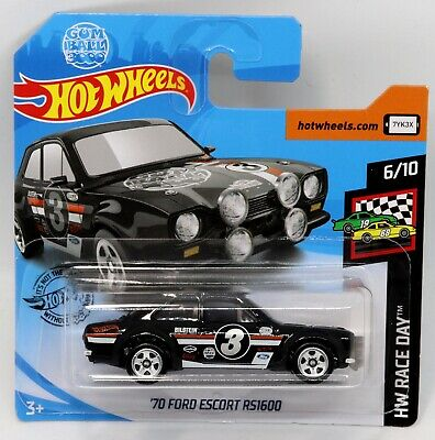 70 Ford Escort RS1600 Hot Wheels Race Day 1:64 Scale Die-cast Toy Car New
