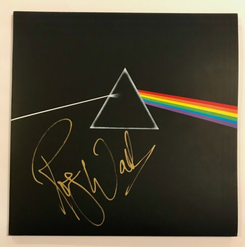 ROGER WATERS SIGNED DARK SIDE OF THE MOON PINK FLOYD ALBUM VINYL LP JSA LOA COA