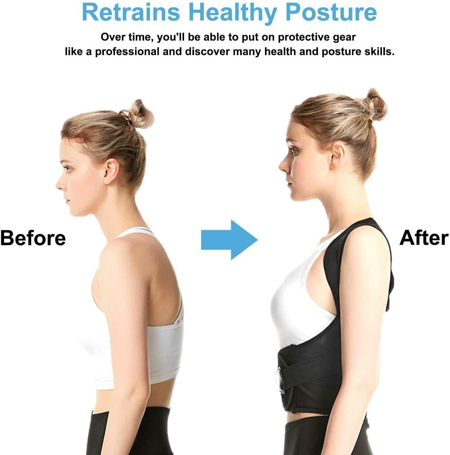 Posture Corrector Sportout Back Brace Four Support Bars Adjustable Health & Beauty