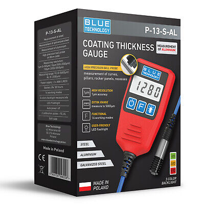 Digital Paint Coating Thickness Gauge For Cars P-13-s-al Professional Made In Eu