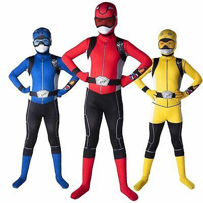 Boys Beast Costume (Kids Power Rangers Beast Morphers Costume Boys Girls Superhero Morphsuits)