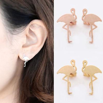 1Pair Boho Womens Tropical Flamingo Birds Earrings Ear Studs Holiday Party Gift